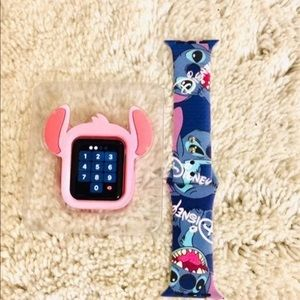 44mm Disney Stitch Apple Watch Band/Cover Combo